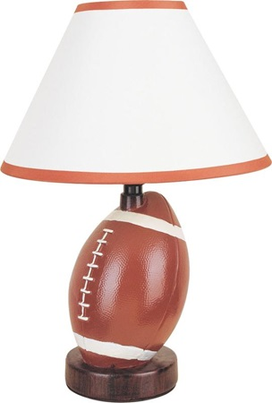 03873A CERAMIC TABLE LAMP FOOTBALL