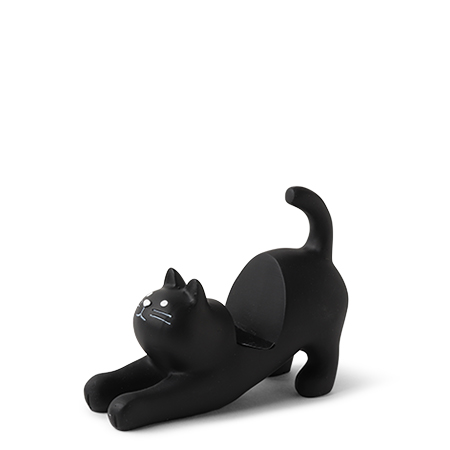 Cat Phone Stand - Black Cat
