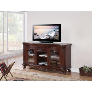 20278 BROWN CHERRY TV STAND
