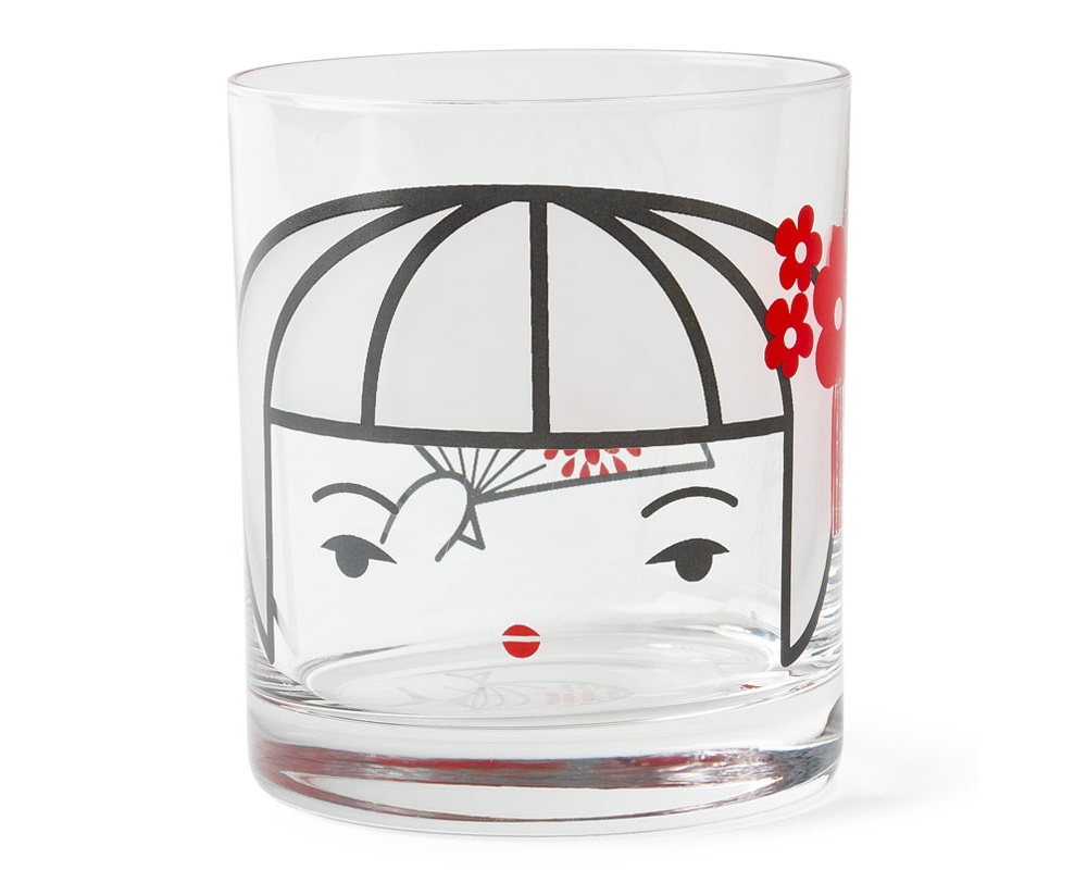 Glass Cup Kokeshi 10 Oz.