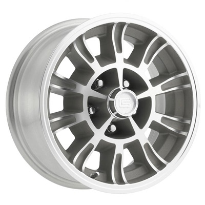 15x7 Legendary GT6 Wheel 5 on 4.5 BP, 4.25 BS, Clear Coat/ Machined