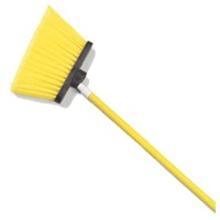 "Carlisle 54"" Yellow Duo-Sweep Angled Broom"