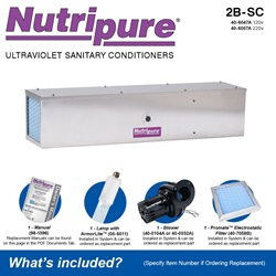 Nutripure Model 2B-SC Included Accessories