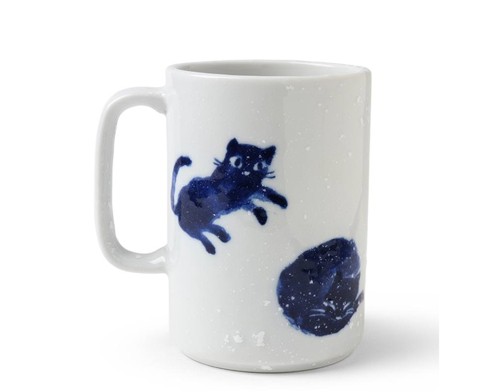 Mug Midnight Blue Cats 16 oz.