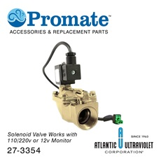 "Solenoid: 1"" 12v / 2-230psi / Brass / Lead Free / NSF for Digital GUARDIAN™ UV Monitors"