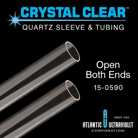 Quartz Sleeve Open Both Ends