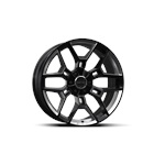 Shelby CS45 20x9 - Black w/Chrome Powder Inserts