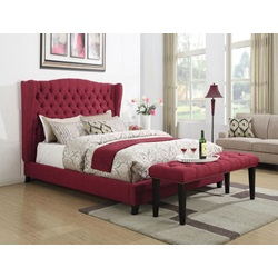20887EK FAYE RED EASTERN KING BED