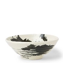 "Black Brush Stroke 8"" Bowl"