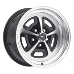 15 x 8 Magnum Alloy Wheel, 5 on 4.5 BP, 4.75 BS, Gloss Black / Machined