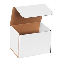 "8 X 6 X 6"" WHITE CORRUGATED MAILER, ECT 32B, 50/BD   M866"