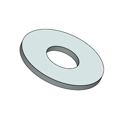 "#6 Flat Washer, .149"" ID X .375"" OD X .026"" Thick, Stainless Steel"