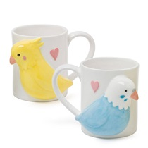 LOVE BIRDS 12 OZ. MUG SET