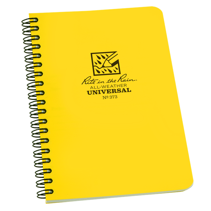 rite in the rain 373 side spiral notebook universal polydura 4 5 8