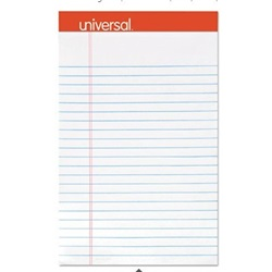 "5 X 8"" PERFORATED WRITING PAD, NARROW RULE, WHITE, 12/CS  UNV46300"