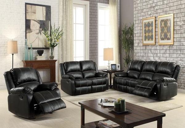 Acme Furniture 52285 Black Motion Sofa
