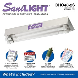 SaniLIGHT DHO48-2S Included Accessories