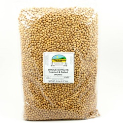 Soynuts, Whole, (Roasted & Salted) - Organic (5lb Bag)