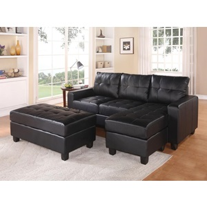 51215 BK REV. SECTIONAL SOFA & OTTOM