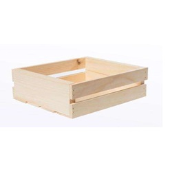 Square Wood Half Crates