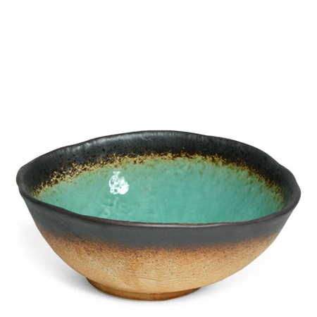 "Kosui Green 9.5"" Oval Serving Bowl"