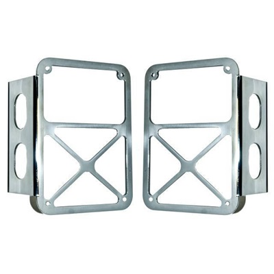 2007-14 Jeep JK Tail Lamp Guards-Stainless