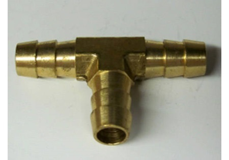 Brass Hose Barb Tee Fittings