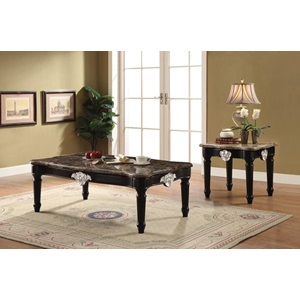 82150 COFFEE TABLE W/MARBLE TOP