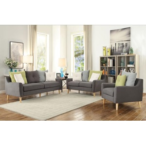 53331 FABRIC  LOVESEAT W/4 PILLOWS