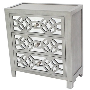 "28""H Glam Slam 3-Drawer Mirror Chest"