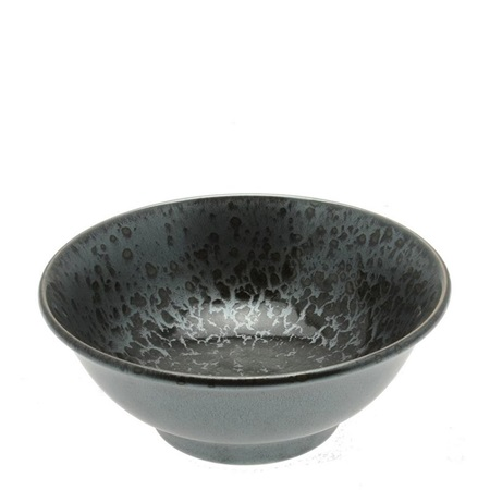 Silver Blue Granite Design Bowl 8-1/2""