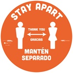 BeSafe Messaging Bilingual Floor Decals