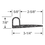"3-1/4"" - ""P"" Profile Wiper Seal"
