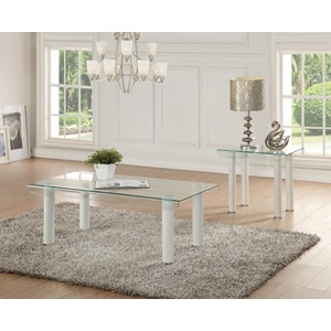 83680 WHITE COFFEE TABLE