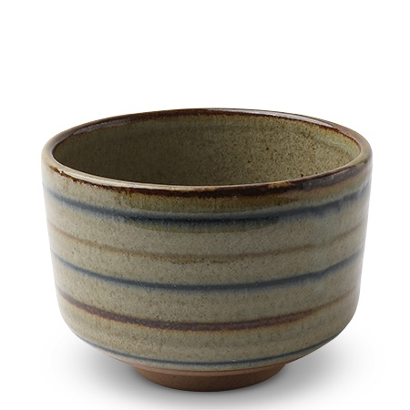 "Matcha Stripes 4.25"" Teacup"