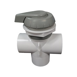 "DIVERTER VALVE: 2"" NOTCHED VERTICAL 2-PORT TOP MOUNT"