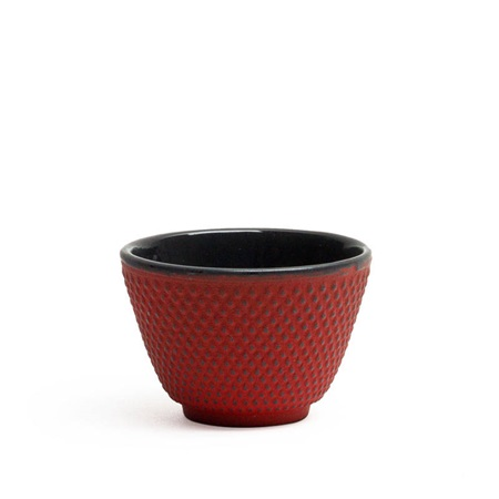 CAST IRON TEACUP - RED