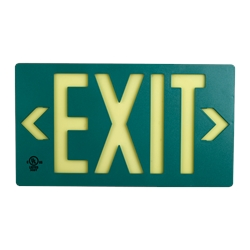 100 lf Green Exit Sign