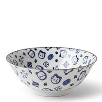 "Maneki Neko Blue 7.75"" Bowl"