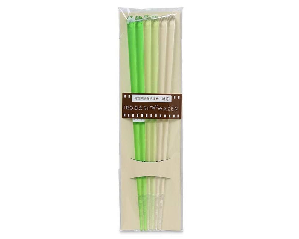 Chopsticks Acrylic Green Set/3