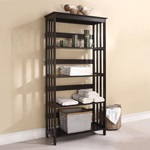92099 ESPRESSO BATHROOM RACK