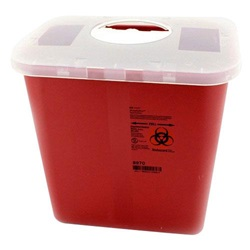 2 Gallon Red Container - Locking Rotor Lid