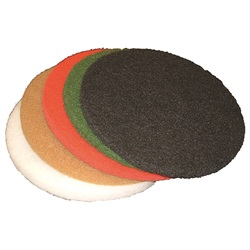 "Thick Floor Maintenance Pads - 21"" Round"