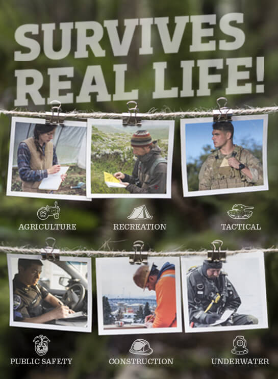 Real People, Real Jobs. Public safety, construction, recreation, agriculture, DIY, military.
