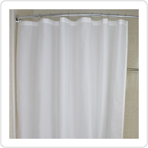 Shower Curtain, Nylon White