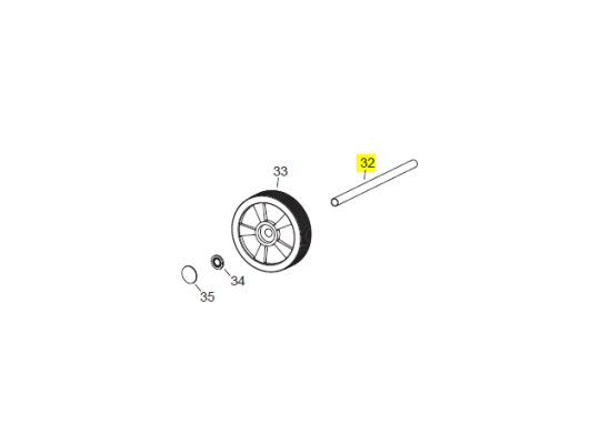 Veloci Heater Replacement Wheel Axle - Flame 115