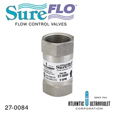 "Flow Control: 9 GPM - 1"" FNPT - NSF 61 / 372 Approved - 304 SST"