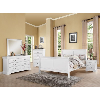 24500Q L.P.III WHITE QUEEN BED