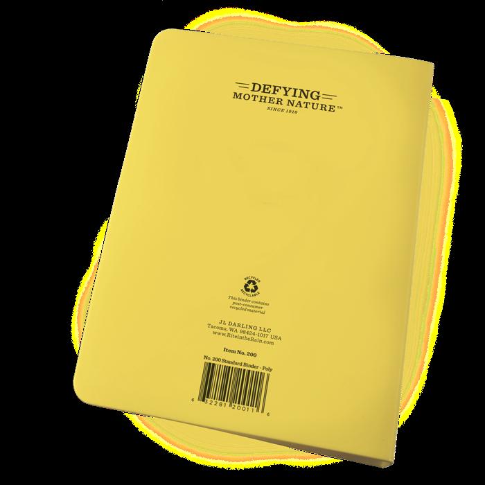 rite in the rain no 200 yellow ring binder 1 2 inch capacity