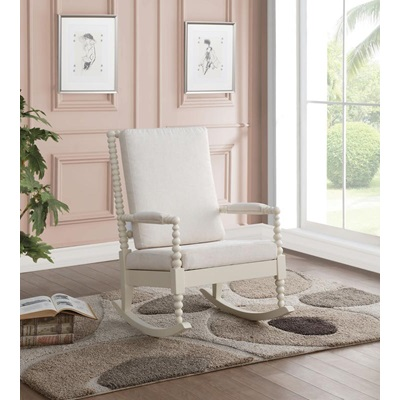 59524 WHITE ROCKING CHAIR